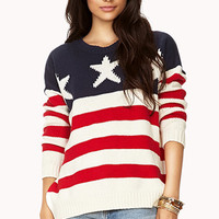 Oversized American Flag Sweater
