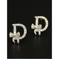 Dior Bow Fashion Women Alphabet fashion lady earrings