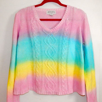 Rainbow Dyed Sweater