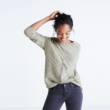 Cableknit Fringe Sweater : | Madewell