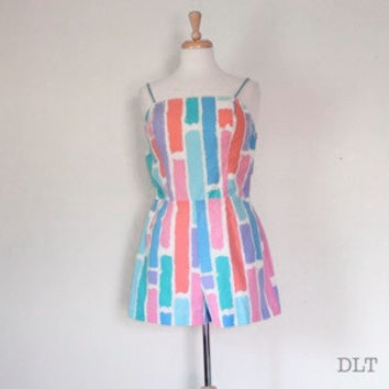 60s Bombshell Playsuit / Bathing Suit