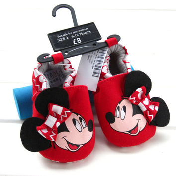 Retail! cartoon red toddler shoes baby girls shoes flower print new born baby cute cack first walkers Soft Sole Shoe baby shoes
