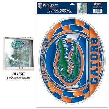 """Licensed Florida Gators NCAA 11""""x17"""" Stained Glass MultiUse Car Decal Wincraft 366498 KO_19_1"""