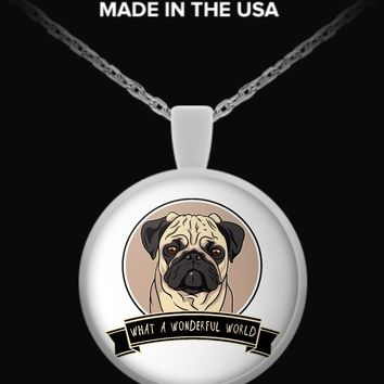 Pug Wonderful World Necklace!