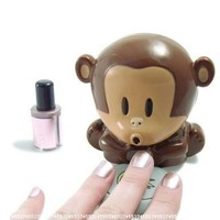 Cute Monkey Shaped Manicure Nail Polish Blower Dryer:Amazon:Beauty