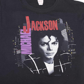 1988 MICHAEL JACKSON bad tour shirt - vintage 80s