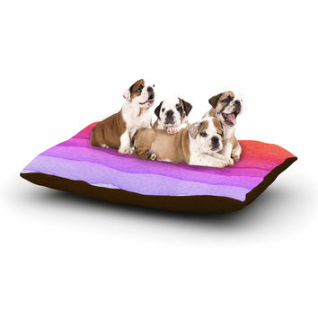 "Kess Original ""Ombre Sunset"" Coral Abstract Dog Bed"