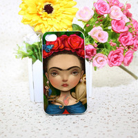 frida kahlo lisa White Hard phone Case Cover for iPhone 4 4s 5 5s 5c 6 6s plus Free Shipping