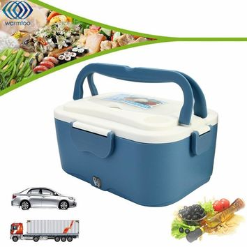 Electric Lunch Box Portable 1.5L Car Lunchbox 12V Car 24V Truck Electric Food Warmer Hot Rice Cooker Traveling Meal Heater