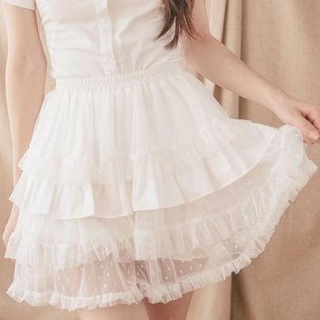 Black/White Lolita Bloomers Cosplay Skorts by Dolly Delly