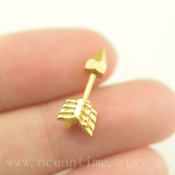 Tragus Earring Jewelry,arrow tragus piercing jewelry,16 gauge arrow ear Helix Cartilage jewelry,oceantime