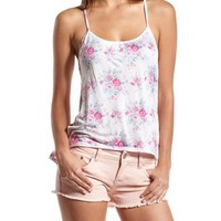Floral Knotted Racerback Tank: Charlotte Russe