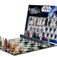 """Star Wars Chess Set / Chess Game Board with Star Wars Figurines Chess Pieces (Game Board Size 17"""" x 17"""")"""