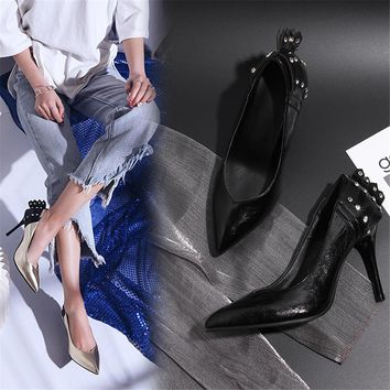 Women's Pointed Toe Stiletto High Heels Dress Party Fashion Pumps Slip on Shoes