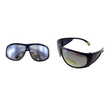 ICIK7Q Large Frame Sunglasses with Silver Mirrored Lenses