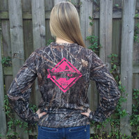 Snook Crossing Pink Camo UPF Long Sleeve Shirt