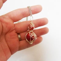 Once upon A time Fairytale Rapunzel Tower Inspired Wire wrapped pendant necklace