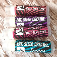 Dance Custom Lip Balm | Dance Team Favors | Free Customization