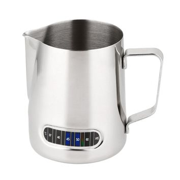 Stainless Steel Milk Frothing Pitcher with Thermometer 600ml