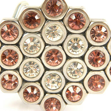 Handmade Hex Nut Belt Buckle with bling