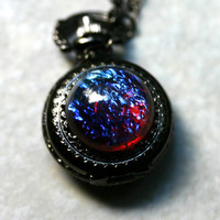 Dragon Breath Pocket Watch - Gunmetal or Silver finish