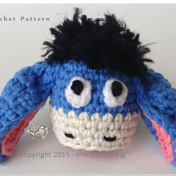 Eeyore EOS Lip Balm Holder - PDF Crochet  *PATTERN*