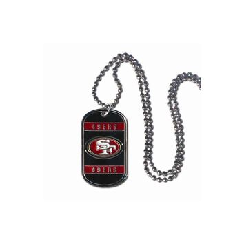 NFL 49ers 20 inch Dogtag Chain Necklace