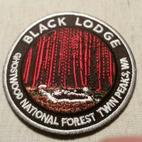 Black Lodge - Ghostwood National Forest - Twin Peaks - Embroidered Patch