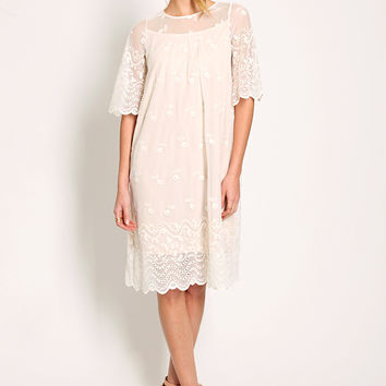 Margot Midi Lace Dress