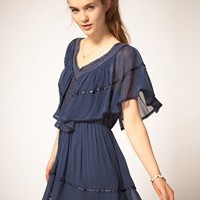 Pepe Jeans | Pepe Jeans Dress With Cape Top at ASOS