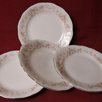 Haviland Johann, white China Dinnerware, Floral Splendor Bavaria 4 Bread plate