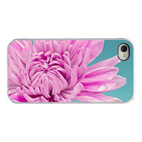 Iphone 4 4s case - Iphone cover - floral iphone case - flower - macro photograph - purple teal turquoise - dreamy - girly iphone case