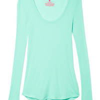 Long Sleeve Ribbed Tee  - Victoria's Secret