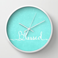 Blessed Wall Clock by Lisa Argyropoulos