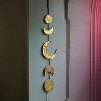 Free People Womens Gold Moon Chime