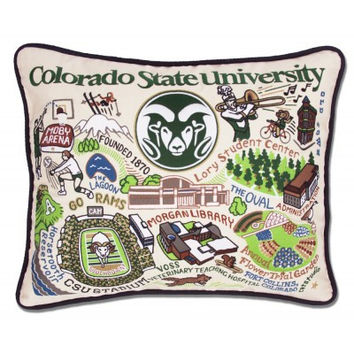COLORADO STATE UNIVERSITY EMBROIDERED PILLOW