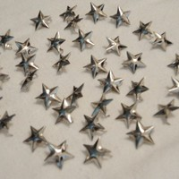Silver Star Metal Two-Prong 5/8 Inch Studs