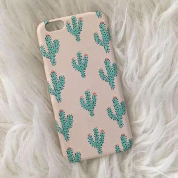 NOV9O2 cactus iphone 7 5se 5s 6 6s plus case superior quality original non slip cover free gift box number 1