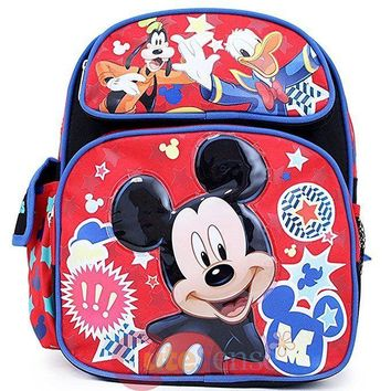 """Mickey Mouse Friends School Backpack 12"""" Small Bag Club House Stars"""