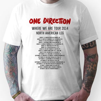 One Direction North American Tour Dates 2014 Unisex T-Shirt