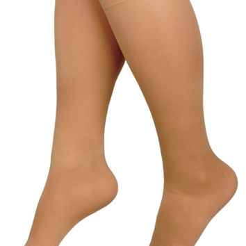 HOSIERY,COMPR,KNEE,30-40,SIZEC,TAN,SHORT