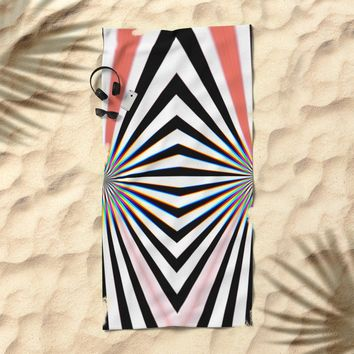 Hypno Beach Towel by duckyb