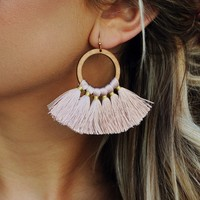 Love Me Earrings: Mauve