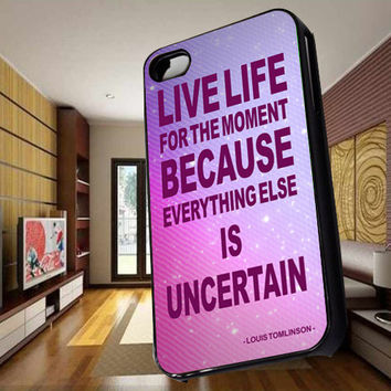 Louis Tomlinson Quotes Hard Case for iPhone 4,iPhone 4s,iPhone 5,iPhone 5s,iPhone 5c,Samsung Galaxy s2 / s3 / s4