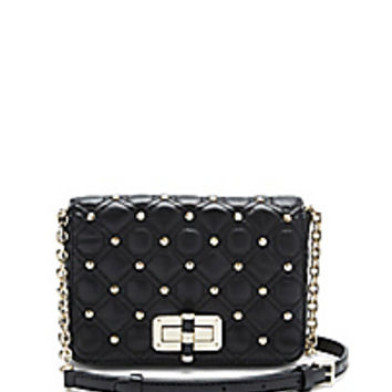 DVF 440 Gallery Bellini Studded Crossbody Bag
