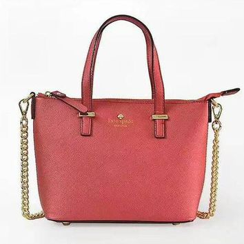 KATE SPADE Classic Fashion Women Shopping Bag Leather Metal Chain Handbag Shoulder Bag Crossbody Satchel 1#