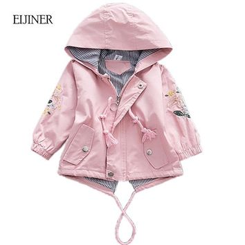 Trendy Embroidered Girls Coat 2018 Autumn Jackets For Baby Girls Jackets Kids Warm Outerwear Coats Baby Jacket Newborn Girls Clothes AT_94_13