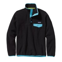 Patagonia Women's Lightweight Synchilla® Snap-T® Pullover | Black w/Ultramarine