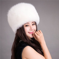 FASHION WINTER EAR CAP LEATHER HAT