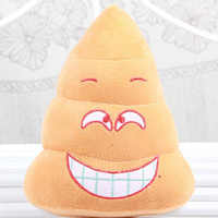 Emoji Poop Pillows Smiley Face Doll Toy Funny Plush Bolster